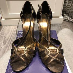 Enzo angiolini ladies size 8 metallic dress shoes